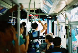 Riders aboard a Big Blue Bus in Santa Monica. File photo.