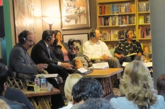 AirTalk's March 28, 2011, debate on downtown Santa Ana's proposed development projects at the Libreria Martinez.