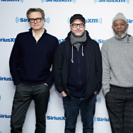 "Colin Firth, Samuel L. Jackson, Matthew Vaughn and Taron Egerton take part in SiriusXM's Entertainment Weekly Radio ""Kingsman: The Secret Service"" Special with Samuel L. Jackson, Colin Firth, Taron Egerton and Matthew Vaughn on SiriusXM's Entertainment Weekly Radio channel at the SiriusXM Studioson February 9, 2015 in New York City."
