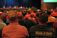 Supporters and opponents of Liberty Quarry project have have packed hearings on the proposed mine for years.