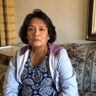 Leah Tejada, who works as a home caregiver in LA, says her family in Leyte, Philippines has had to  rebuild their home twice after severe typhoons in 2013 and 2014.