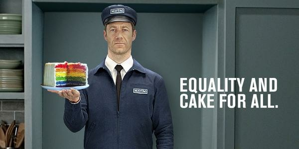 Maytag tweeted out a photo of its spokescharacter the Maytag Man in honor of Pride Month.