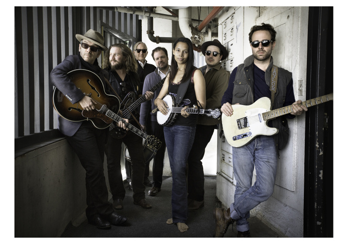 Elvis Costello, Marcus Mumford and Taylor Goldsmith in 'Lost Tapes: The Basement Tapes Continued.'