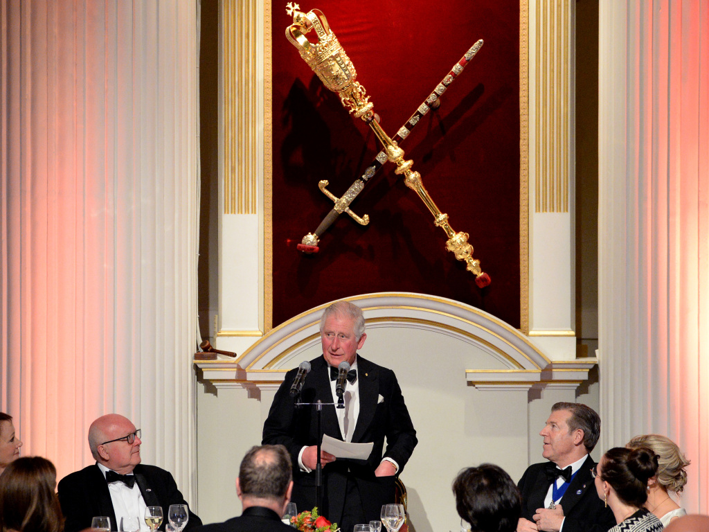 Prince Charles has tested positive for coronavirus and is showing some symptoms of COVID-19. The heir to the British throne is seen here speaking at a large event on March 12, when he attended a dinner at Mansion House in London.
