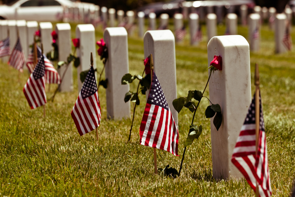 Memorial Day at Los Angeles National Cemetery, May 2012.