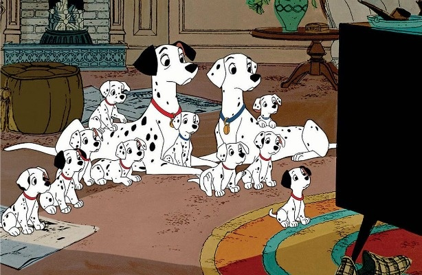 Scene from 101 Dalmations