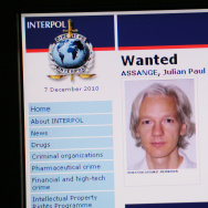 A picture shows the Interpol webpage wit