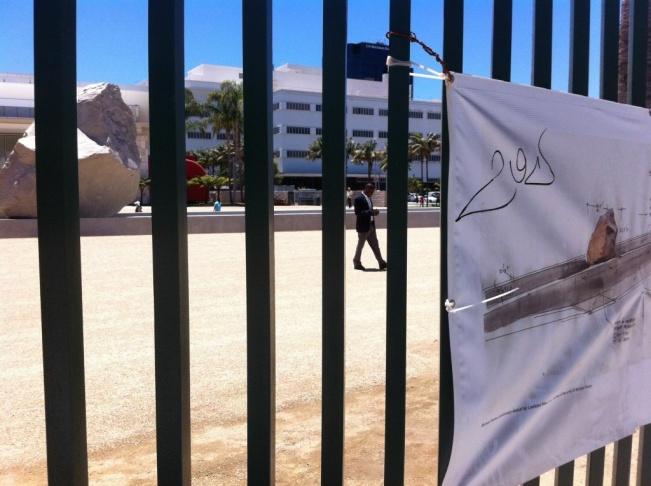 LACMA unveils 'Levitated Mass' exhibit on Sunday, June 24, 2012.