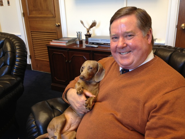 Congressman Ken Calvert (R-Riverside) loves his pup, Cali.