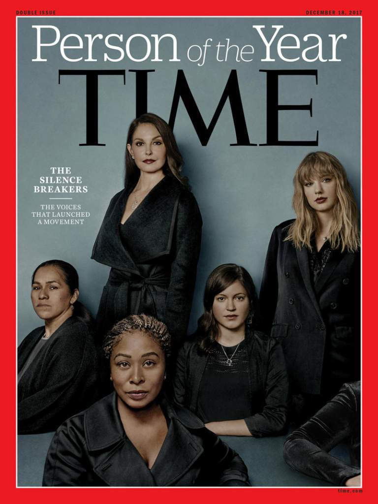 Time magazine says the women who shared stories about sexual harassment and abuse through the #metoo campaign — the