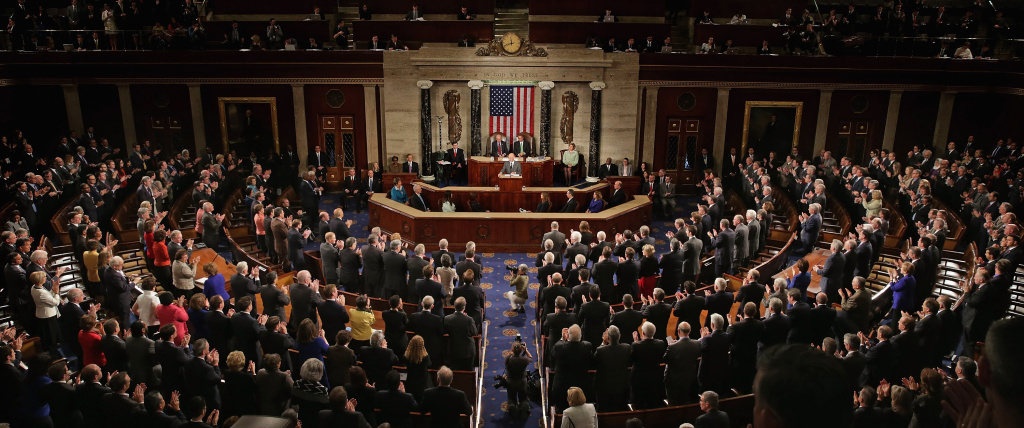 Afghanistan President Ashraf Ghani receives a standing ovation while addressing a joint meeting of the United States Congress in the House Chamber at the U.S. Capitol March 25, 2015 in Washington, DC.