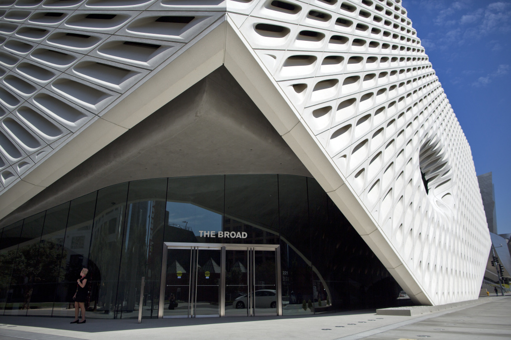 The Broad opened to the public for the first time on Sunday, Sept. 20, 2015.