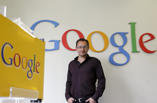 The spokesman of Google's European advertising, Ben Novick poses on August 4, 2010 at the Google's Paris office.