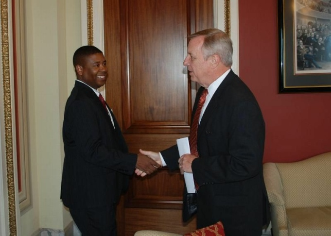 Charles Samuels and Dick Durbin