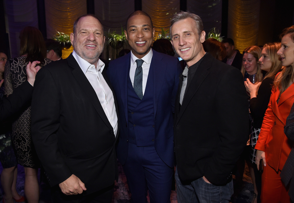 Harvey Weinstein, Don Lemon and Dan Abrams attend The Hollywood Reporter's 35 Most Powerful People In Media 2017 event on April 13, 2017 in New York City.