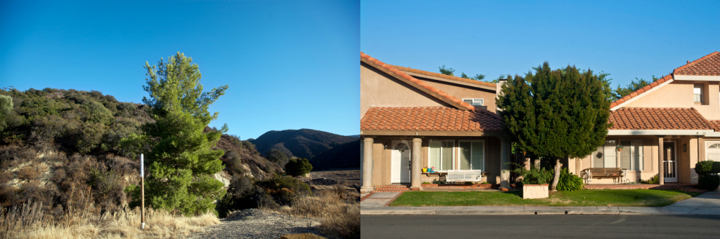 Left: Developers have shown interest in building housing tracts in areas of Cleveland National Forest. Right: A housing development in Rancho Santa Margarita.