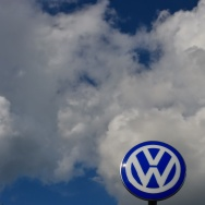 The logo of German car maker Volkswagen is pictured at the company's headquarters in Wolfsburg, central Germany, on September 25, 2015 during the company's supervisory board meeting. Matthias Mueller, head of luxury sportscar maker Porsche, looks set to take the steering wheel at scandal-hit Volkswagen, replacing Martin Winterkorn who quit over the global pollution cheating scandal engulfing the group.  AFP PHOTO / JOHN MACDOUGALL        (Photo credit should read JOHN MACDOUGALL/AFP/Getty Images)