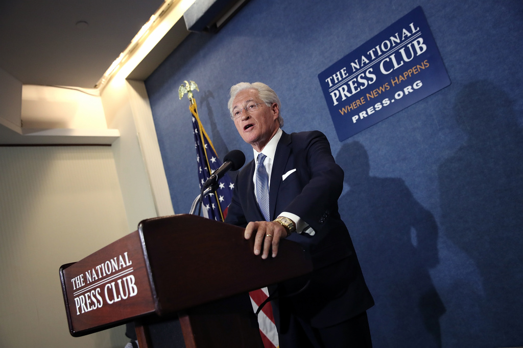 Marc Kasowitz, attorney for U.S. President Donald Trump delivers remarks at the National Press Club June 8, 2017 in Washington, DC.