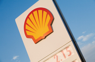 Shell Oil logo.