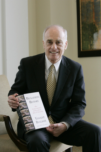 In this file photo, Vincent Bugliosi, Chief Prosecutor in the trial of Manson and three young women, talks with newsmen outside the courtroom Monday, Jan. 26, 1971 in Los Angeles. Bugliosi won convictions in what was one of America's most sensational trials. On Monday night, June 8, 2015, Bugliosi's son said that he had died. He was 80 years old.
