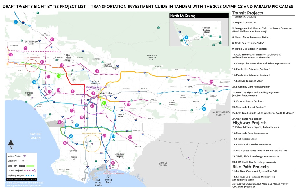 Mta Los Angeles Map.Audio La Metro Picks 28 Transportation Projects To Finish For 2028