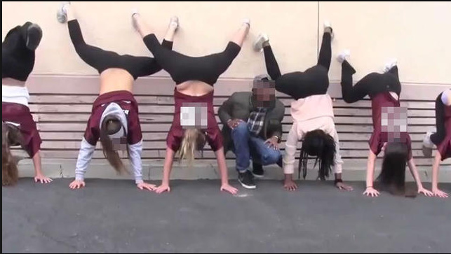 Still image from a video posted last week to YouTube featuring Scripps Ranch students allegedly twerking on school time. Dozens of students were suspended from the San Diego high school.