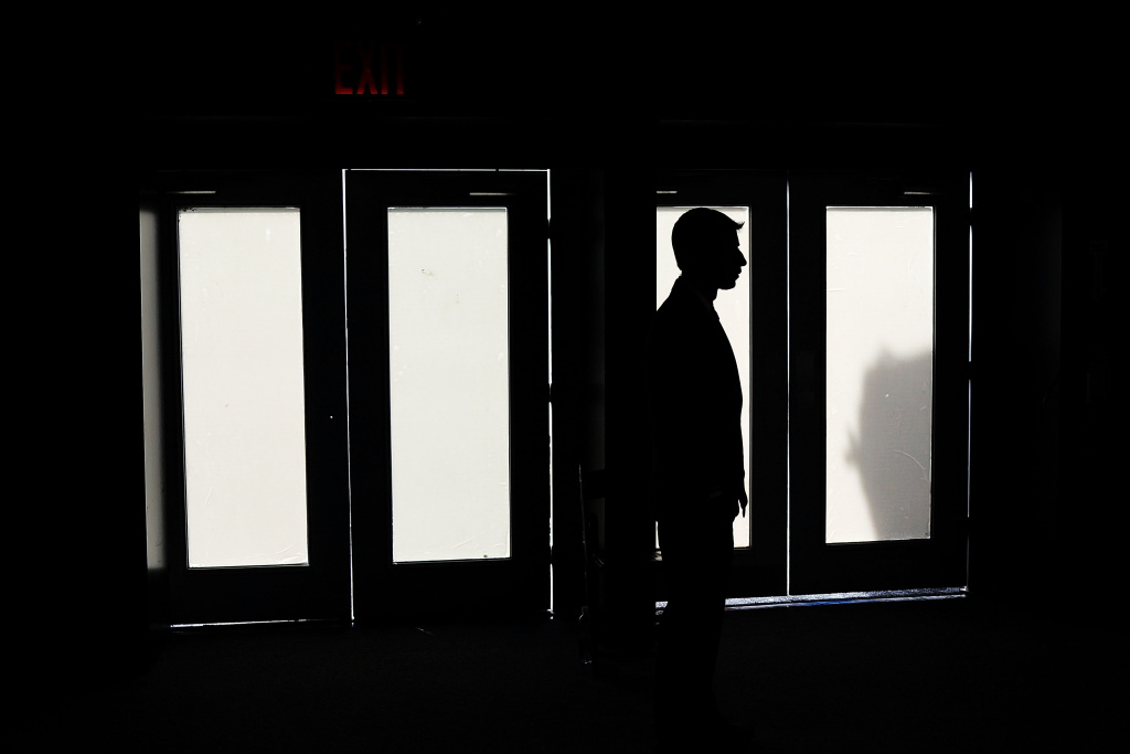 File: A security guard stands in front of doors on the first day of New York Fashion Week on Sept. 5, 2013 at Lincoln Center in New York City.