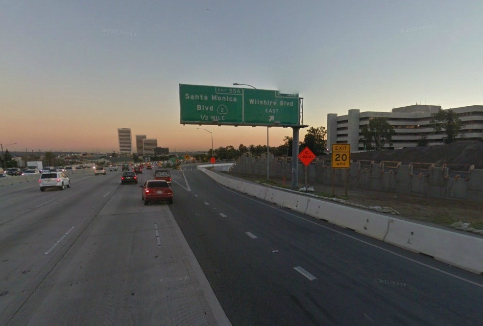 An exit from the 405.