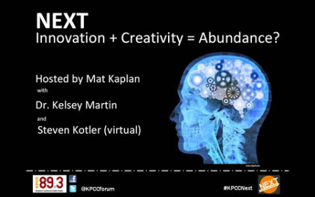 NEXT: Innovation + Creativity = Abundance?