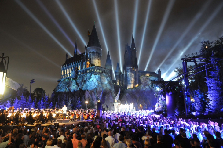 The Wizarding World of Harry Potter kicked off its grand opening celebration on June 16, 2010 in Orlando, Florida in front of Hogwarts castle.