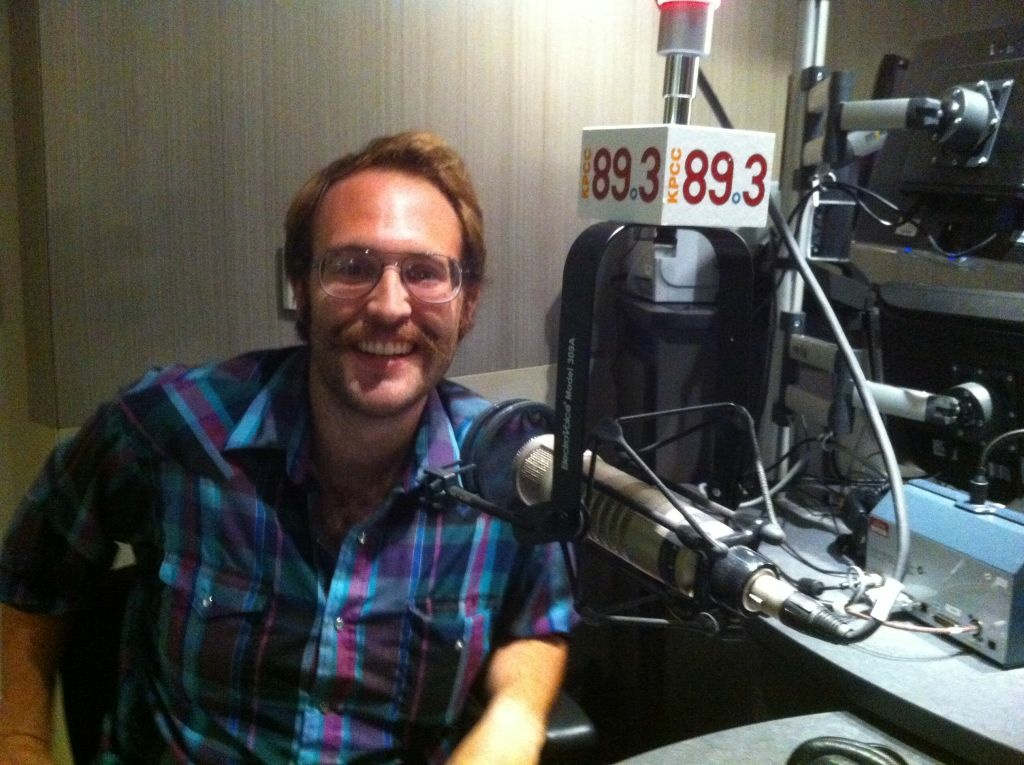Josh Androsky at the KPCC studios in Pasadena on August 23, 2012