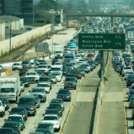 I-405 in typical traffic. Now imagine this volume of traffic spilling onto surface streets.