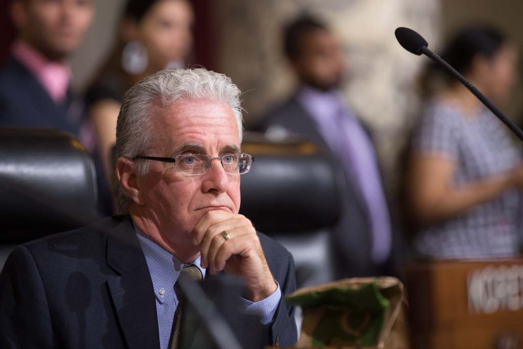 FILE PHOTO: Paul Krekorian at a Los Angeles City Council meeting on Aug. 6, 2013.
