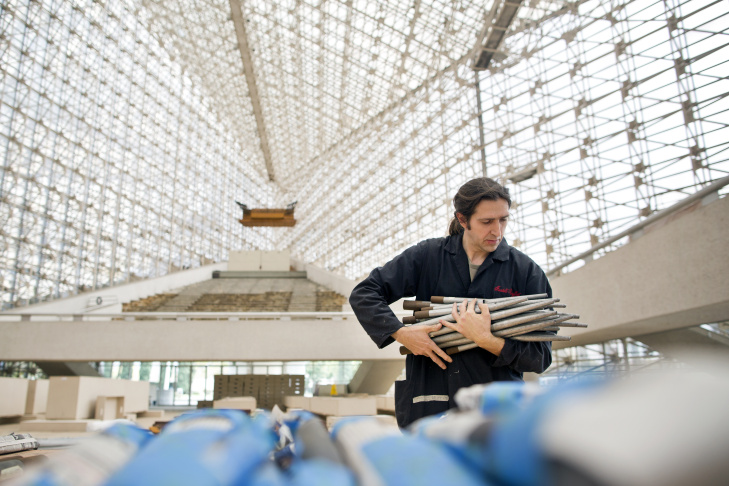 The Hazel Wright pipe organ at Crystal Cathedral in Garden Grove will undergo a two-year restoration. For the past week, workers have been dismantling the 16,000-pipe instrument.