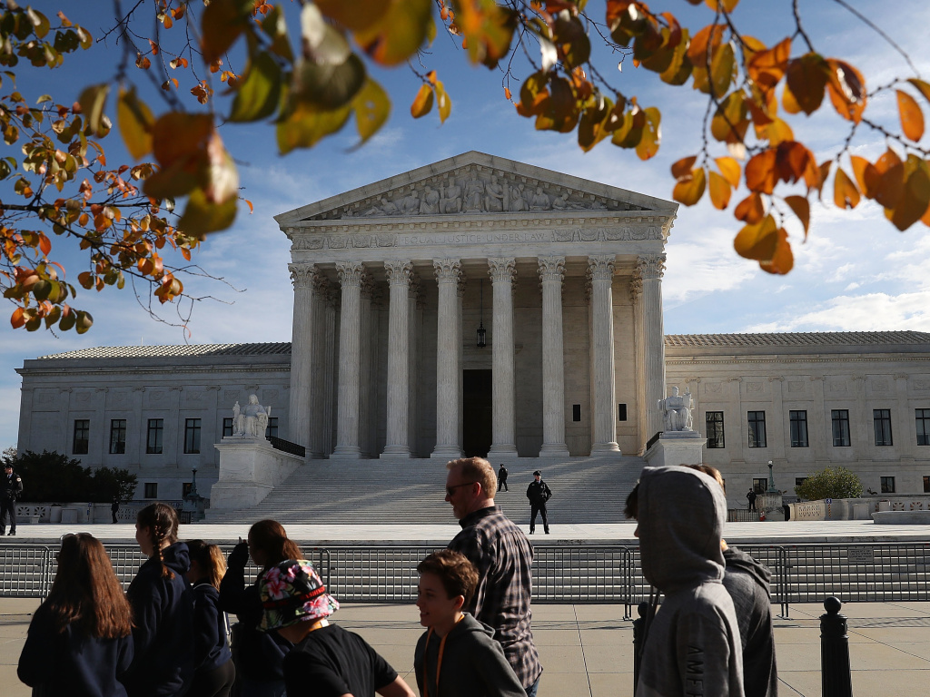 The U.S. Supreme Court, taken on November 8, 2018.