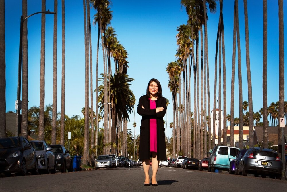 Los Angeles City Council District 10 candidate Grace Yoo poses for a portrait. (photo courtesy of Yoo campaign)