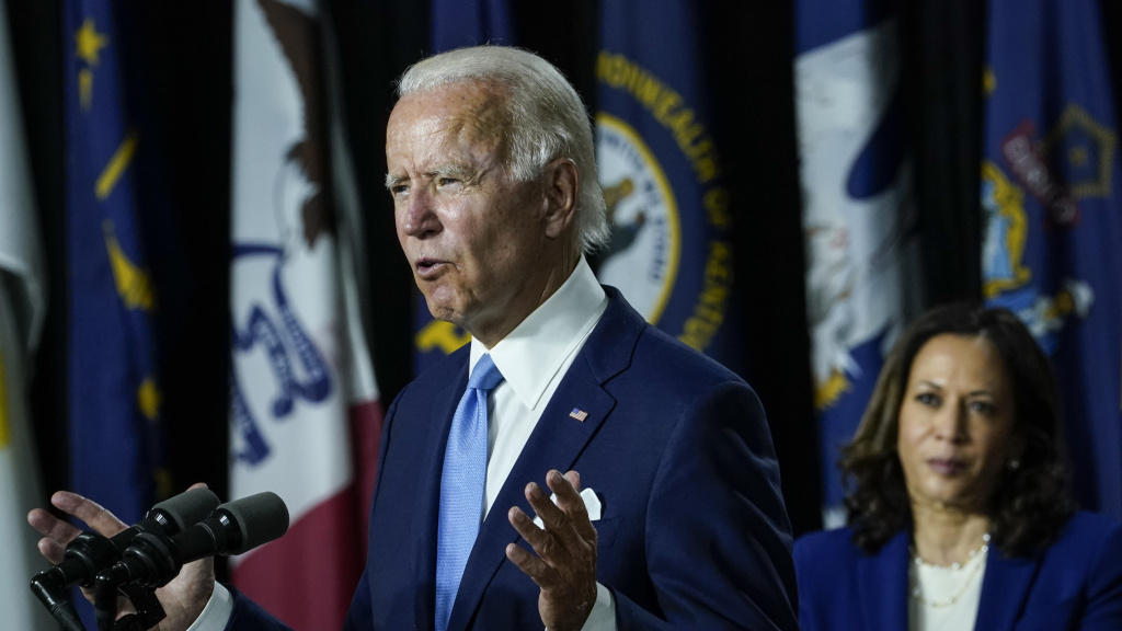 Democratic presidential candidate former Vice President Joe Biden and his running mate Sen. Kamala Harris will take the helm of their party at the virtual convention, with a challenge to offer voters a vision of the future.