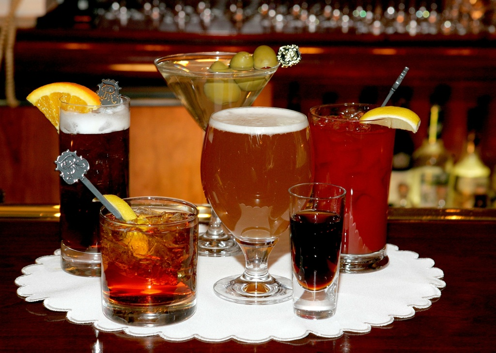 A selection of cocktails.