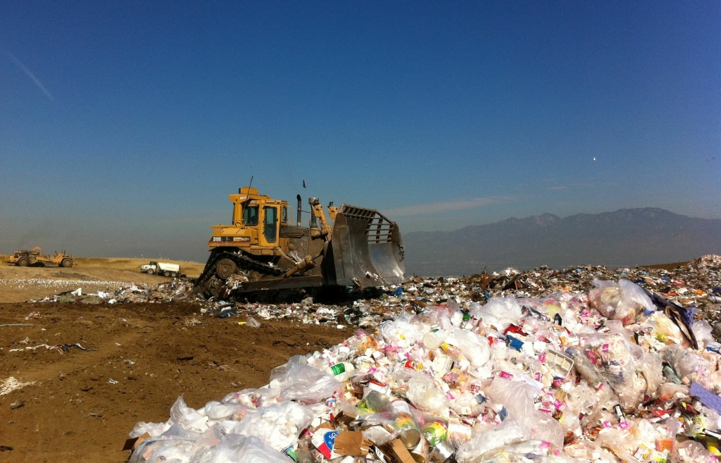 The Puente Hills Landfill. About 15 percent of all the food in landfills comes from restaurants.