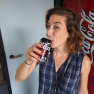 "KPCC health reporter Rebecca Plevin drinks a Coke Zero. Coca-Cola plans to discontinue the drink in August, replacing it with ""Coke Zero Sugar."""