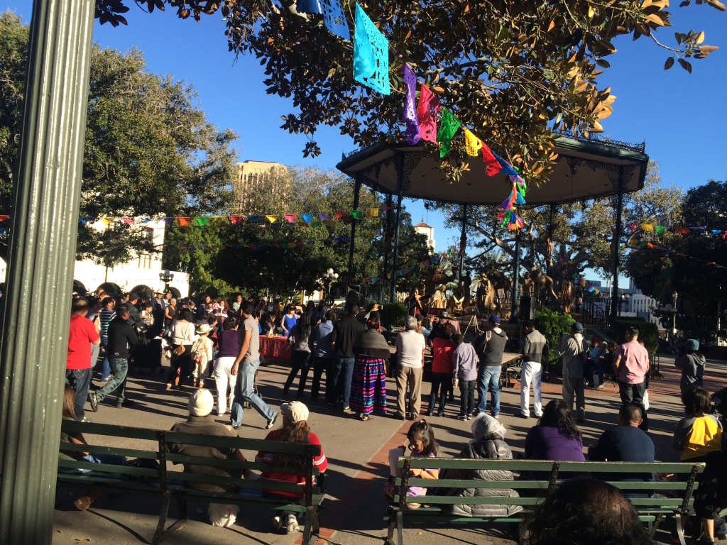 The Olvera Street, L.A.'s historic pueblo, is near the site of a proposed temporary shelter for homeless.