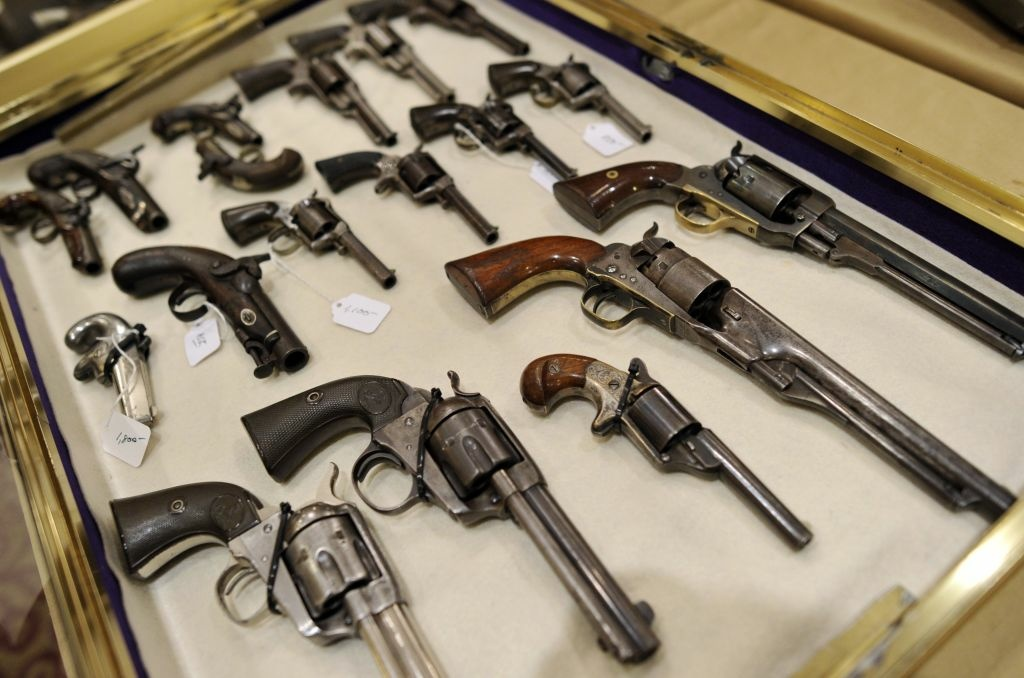 Antique firearms displayed during the 8th Annual East Coast Fine Arms Show in Stamford, Connecticut January 6, 2013.