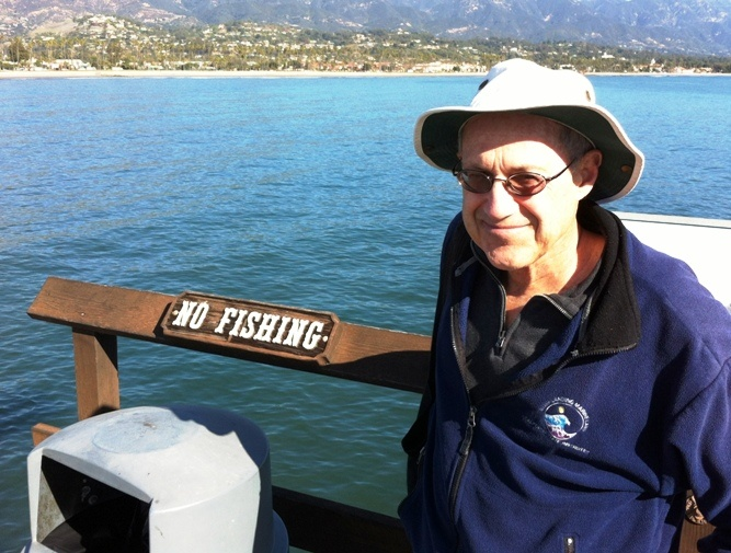 Milton Love at Stearns Wharf in Santa Barbara.