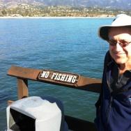Milton Love at Stearns Wharf in Santa Barbara.