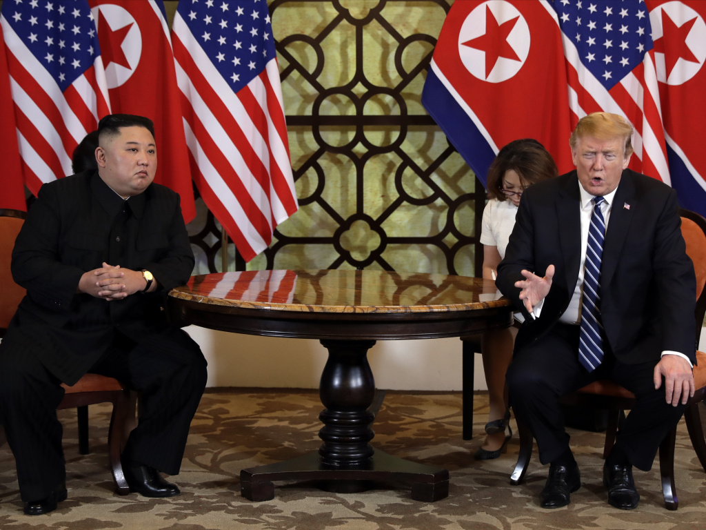 President Donald Trump meets North Korean leader Kim Jong Un, Thursday, Feb. 28, 2019, in Hanoi. No deal was reached.