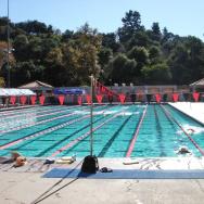 The Rose Bowl Aquatics Center in Pasadena, California.