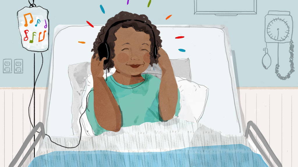 Music can soothe us, and it can also help reduce pain. Researchers found that listening to a favorite song or story helped children manage pain after major surgery.