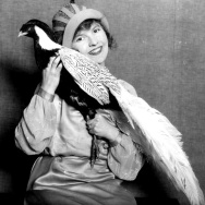 Circa 1920 photo of a Southern California bird fancier.