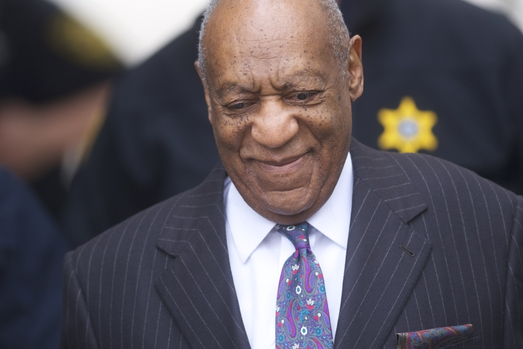Bill Cosby arrives at the Montgomery County Courthouse for the first day of his sexual assault retrial on April 9, 2018 in Norristown, Pennsylvania.
