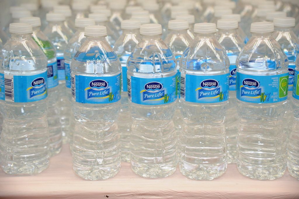 Nestle, the largest bottled water producer in the U.S., said it will work with federal officials during the permit renewal process.